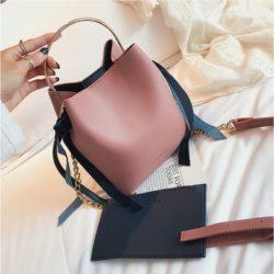 JT4508-pink Tas Handbag Wanita Modis Kekinian 2in1 Import