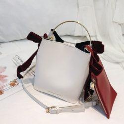 JT4508-white Tas Handbag Wanita Modis Kekinian 2in1 Import