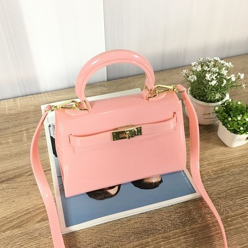 JT453-pink Tas Selempang Jelly Import Wanita Cantik