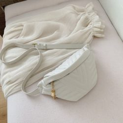 JT4542-beige Waist Bag Fashion Import Elegan Wanita
