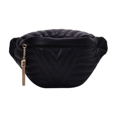 JT4542-black Waist Bag Fashion Import Elegan Wanita