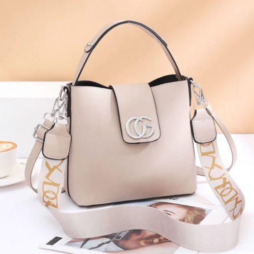 JT45770-khaki Tas Handbag Selempang Wanita Elegan Import