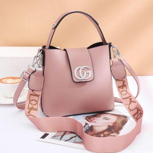 JT45770-pink Tas Handbag Selempang Wanita Elegan Import