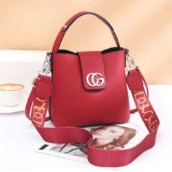 JT45770-red Tas Handbag Selempang Wanita Elegan Import