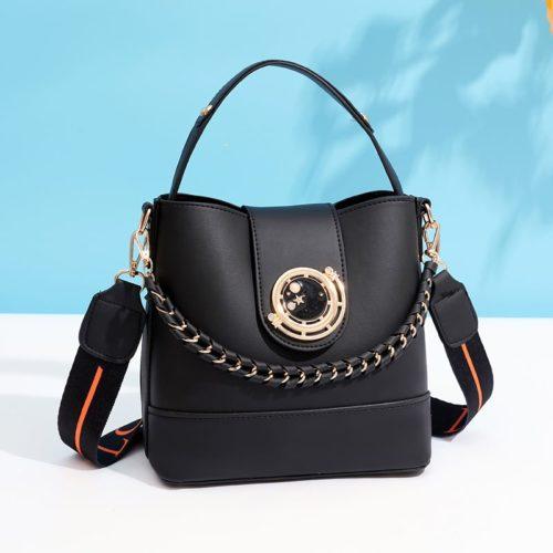 JT45990-black Tas Selempang Wanita Elegan Import Terbaru