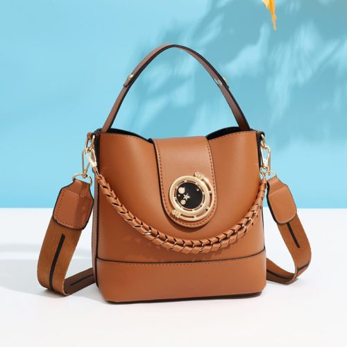 JT45990-brown Tas Selempang Wanita Elegan Import Terbaru