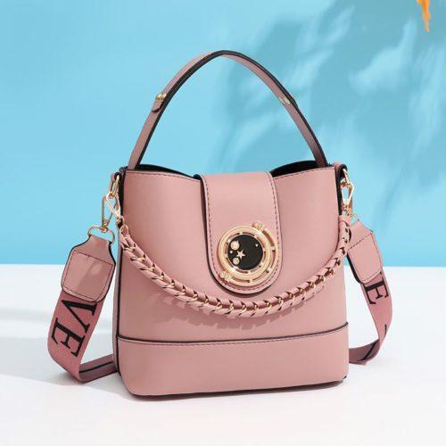 JT45990-pink Tas Selempang Wanita Elegan Import Terbaru