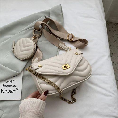 JT46111-beige Tas Selempang Pesta 2in1 Wanita Cantik Import