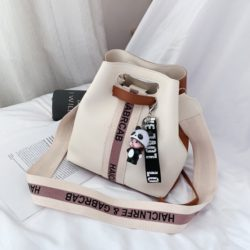 JT46321-white Tas Selempang Serut Fashion Import Wanita