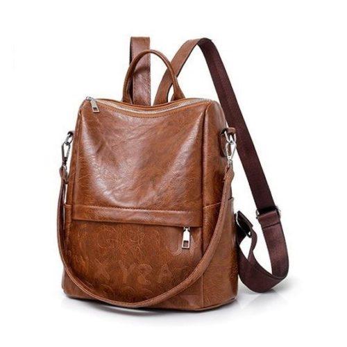 JT464011-brown Tas Ransel Stylish Kekinian Import