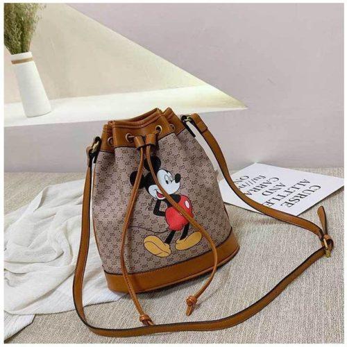 JT4649-brown Tas Serut Mickey Fashion Wanita Terbaru