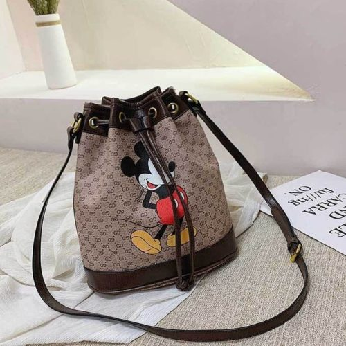 JT4649-coffee Tas Serut Mickey Fashion Wanita Terbaru