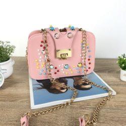 JT48050-pink Tas Clutch Selempang Wanita Cantik Import