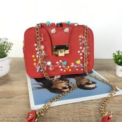 JT48050-red Tas Clutch Selempang Wanita Cantik Import
