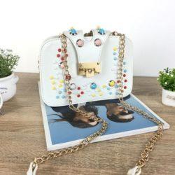 JT48050-white Tas Clutch Selempang Wanita Cantik Import