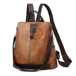 JT495-brown Tas Ransel Fashion Import Wanita Cantik