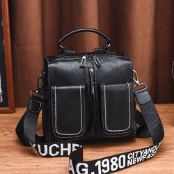 JT502-black Tas Ransel Fashion (Bisa Selempang) Elegan Terbaru