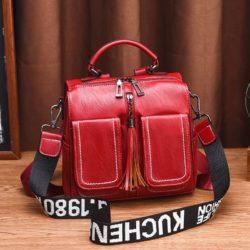 JT502-red Tas Ransel Fashion (Bisa Selempang) Elegan Terbaru