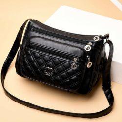 JT50533-black Tas Selempang Import Terbaru Wanita Cantik