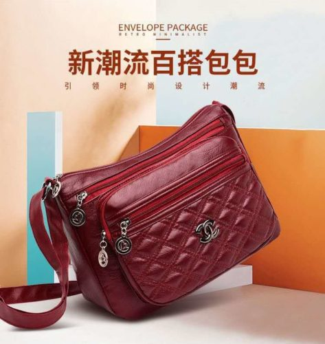 JT50533-red Tas Selempang Import Terbaru Wanita Cantik