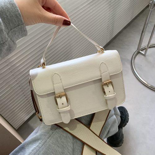 JT513-white Tas Handbag Selempang Stylish Import Wanita Cantik