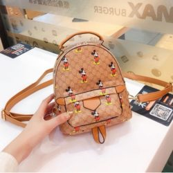 JT51421-brown Tas Ransel Fashion Mickey Wanita Cantik