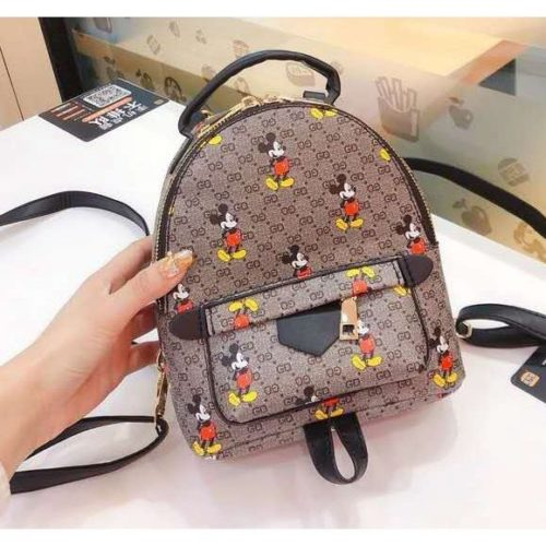 JT51421-gray Tas Ransel Fashion Mickey Wanita Cantik