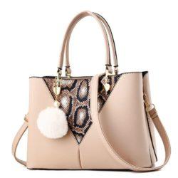 JT5183-khaki Tas Handbag Pom Pom Elegan Import Terbaru