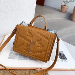JT5452-brown Tas Handbag Selempang Wanita Cantik Import
