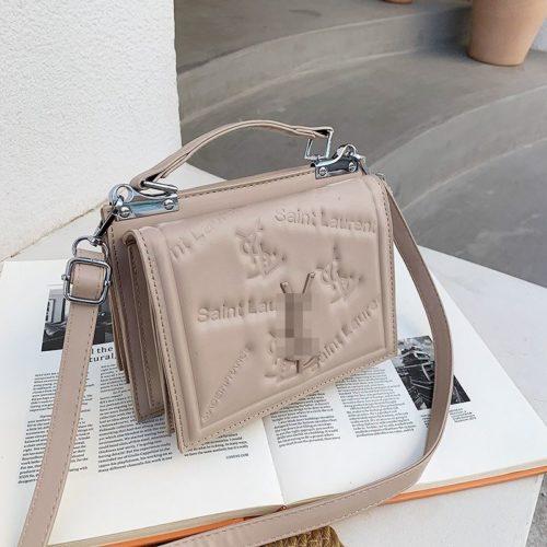 JT5452-khaki Tas Handbag Selempang Wanita Cantik Import