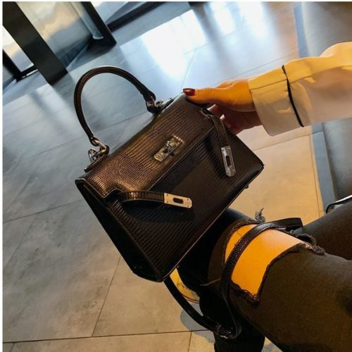 JT54820-black Tas Handbag Import Wanita Cantik Elegan