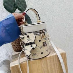 JT5610-beige Tas Tabung Gantungan Imut Wanita Cantik Import
