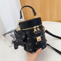 JT5610-black Tas Tabung Gantungan Imut Wanita Cantik Import