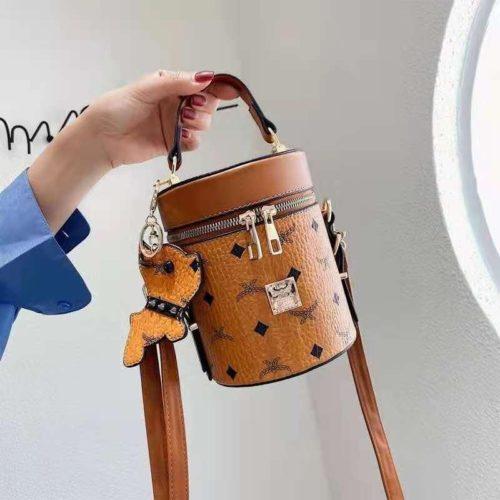 JT5610-brown Tas Tabung Gantungan Imut Wanita Cantik Import