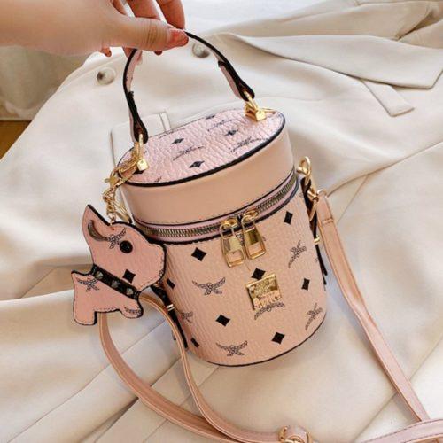 JT5610-pink Tas Tabung Gantungan Imut Wanita Cantik Import