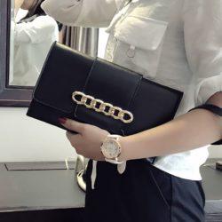 JT5870-black Dompet Clutch Fashion Wanita Cantik Terbaru