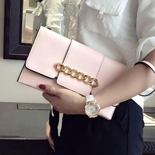 JT5870-pink Dompet Clutch Fashion Wanita Cantik Terbaru