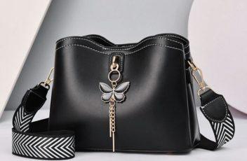 JT5910-black Tas Selempang Cantik Import Wanita Elegan