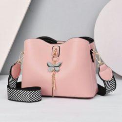 JT5910-pink Tas Selempang Cantik Import Wanita Elegan