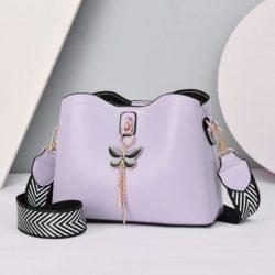 JT5910-purple Tas Selempang Cantik Import Wanita Elegan