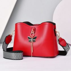 JT5910-red Tas Selempang Cantik Import Wanita Elegan