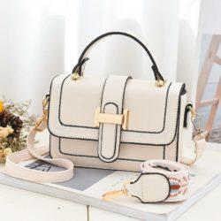 JT5955-beige Tas Handbag Selempang Wanita Elegan 2 Talpan