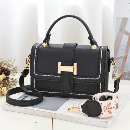 JT5955-black Tas Handbag Selempang Wanita Elegan 2 Talpan