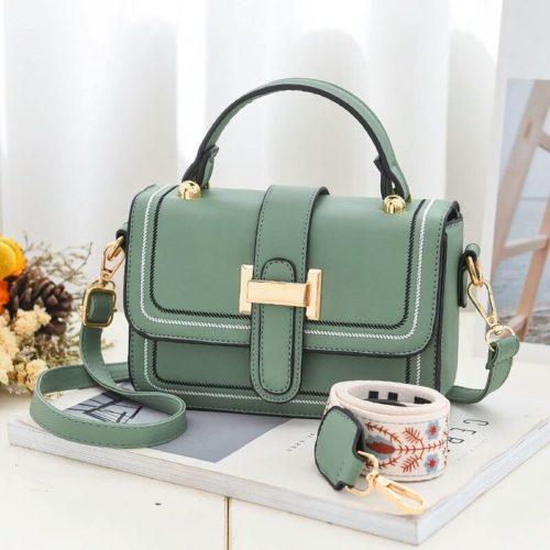 JT5955-green Tas Handbag Selempang Wanita Elegan 2 Talpan
