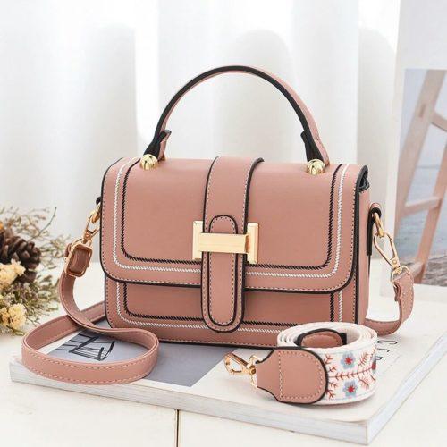 JT5955-pink Tas Handbag Selempang Wanita Elegan 2 Talpan