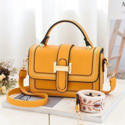 JT5955-yellow Tas Handbag Selempang Wanita Elegan 2 Talpan