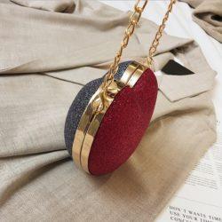 JT599-redgray Tas Pesta LOVE Elegan Import Kekinian