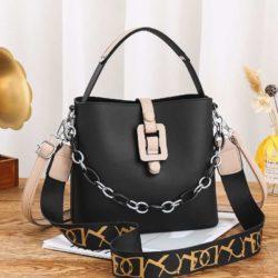 JT6001-black Tas Selempang Rantai Wanita Cantik Terbaru Import