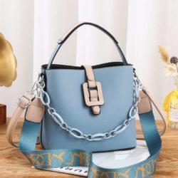 JT6001-blue Tas Selempang Rantai Wanita Cantik Terbaru Import