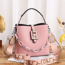 JT6001-pink Tas Selempang Rantai Wanita Cantik Terbaru Import
